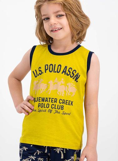 U.S. Polo Assn.  Lisanslı Kiremit Erkek Çocuk Bermuda Takım Yeşil